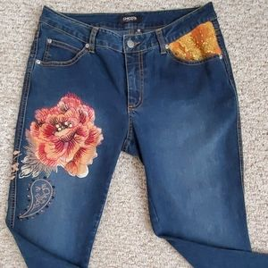 Chico's Jeans with floral design
